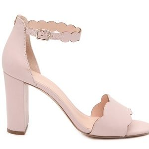Kate Spade Mae Scallop Heel Sandal Pale Vellum